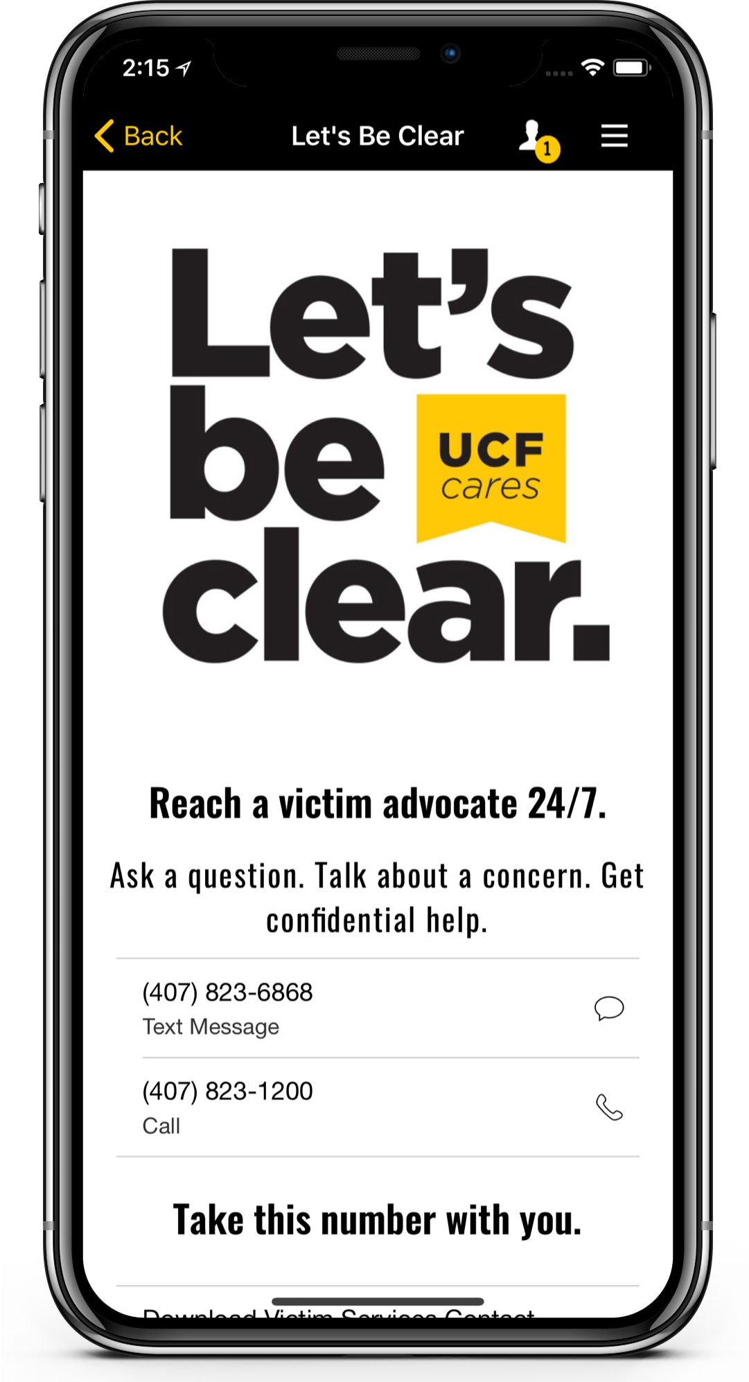UCF Remembers event