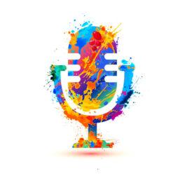 microphone-icon-of-splash-paint
